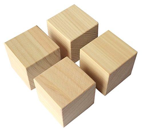 国産 ヒノキ 板 工作材料 DIY 端材 檜 サイコロ型 角材 4個セット インシュレーターにも