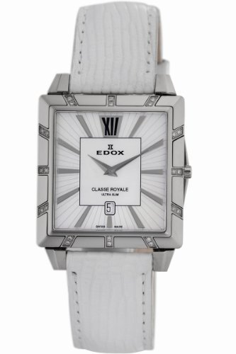 Edox Women's 26022 3D NAIN Classe Royale Rectangular Date Watch
