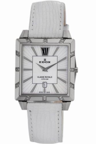 Edox Women's 26022 3D NAIN Classe Royale Rectangular Date Watch