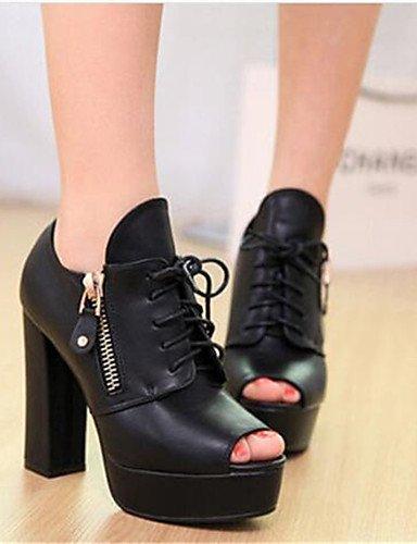 Robusto Mujer Abierta Cn40 Zapatos tacón negro 5 Eu36 Eu39 Ggx Black oficina us6 Y semicuero tacones Uk6 Casual Trabajo 5 us8 De Punta Black Cn36 Uk4 tacones 1I0qdEnw