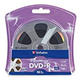 Verbatim DVD+R, 96857, 4.7GB, 8X, DigitalMovie Surface, 10PK Blister [Non - Retail Packaged]