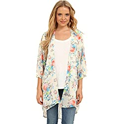 Gabriella Rocha Women's Estella Floral Maxi Kimono