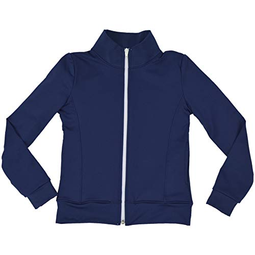 (Stretch is Comfort Girl's Techno Jacket Navy Blue X-Large)