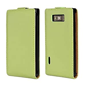Bfun Packing Green Real Genuine Leather Cover Case For LG Optimus L7 P705/P705G/700