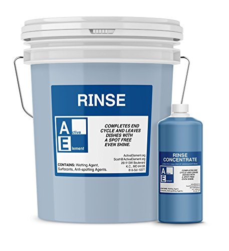 Commercial Dishwasher Rinse, Makes six 5-gallon pail, Commercial-Grade (Count 6) by Active Element