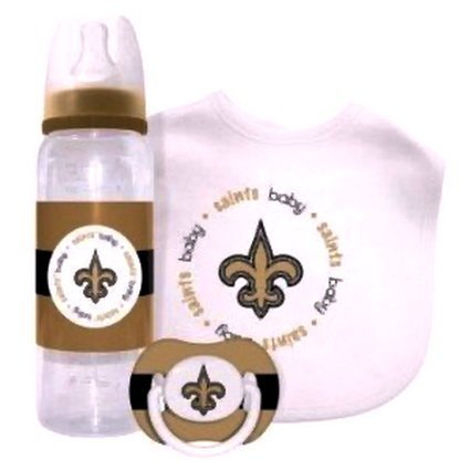 NEW ORLEANS SAINTS NFL Baby Gift Set: Kickoff Collection 3-Piece Baby Feeding Set baby fanatic