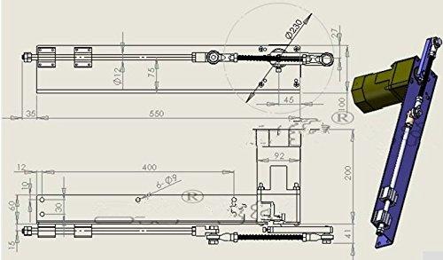 Ac 220v 120w 150 200mm Linear Actuator Reciprocating Motor