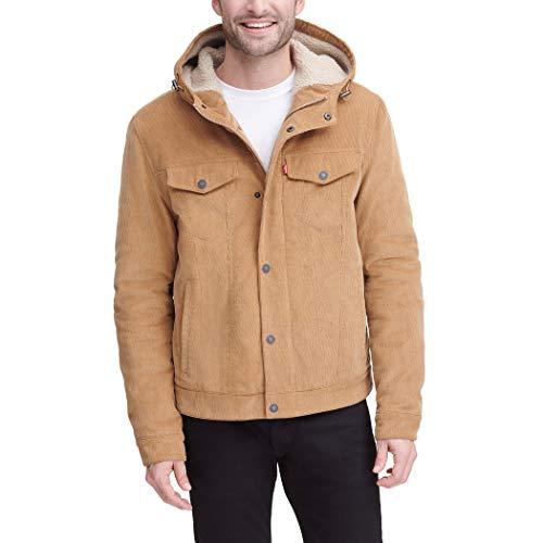 Levi's Men's Corduroy Sherpa Hooded Trucker Jacket