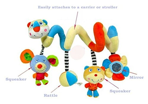 FOME Toys Games Activity Spiral Stroller Toy with Jingle Bell and Mirror A FOME Gift