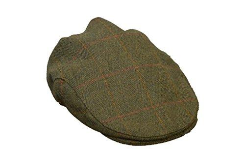 (Walker and Hawkes Men's Derby Tweed Flat Cap Hunting Shooting Countrywear Hat X-Large Dark)