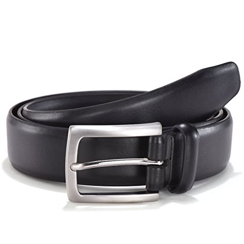 Men's Classic Dress Genuine Leather Belt - Single Buckle with Gift Box by Melrtrich(34, (Belt Gift Box)