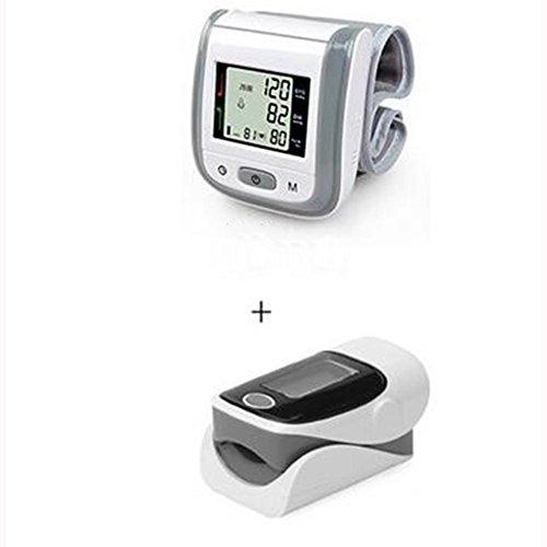 Tensiómetro de Muñeca Automático +Pulsioximetro de dedo (Un conjunto ...