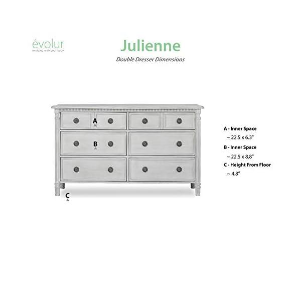 Evolur Julienne 6 Double Dresser, Antique Bronze