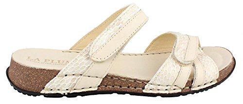 Women's Laplume, Clara Slide Sandal BONE CROC 42 (Bone Croc)