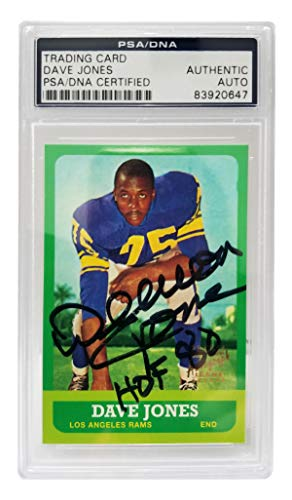 Deacon Jones Signed Los Angeles Rams 1997 Topps Trading Card #44 - (PSA Encapsulated)
