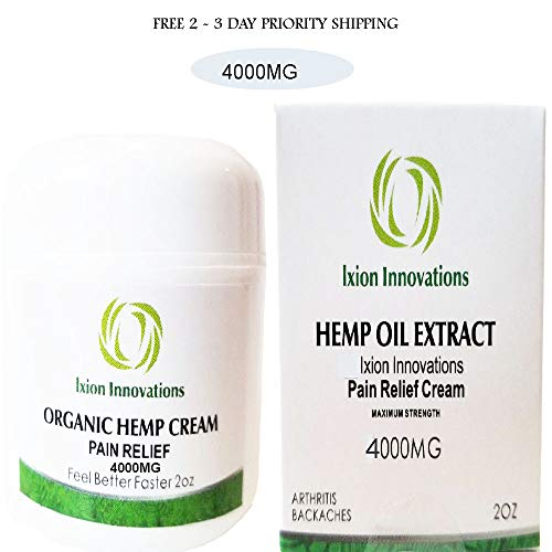 (4000 MG Hemp Pain Relief Cream + Premium Hemp Oil Extract + Rub + Ointment + Salve + Aches + Soreness + Joint + Muscle strains + Organic + Natural Soothing Ingredients (1))