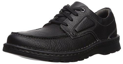 CLARKS Men's Vanek Apron Loafer, Black Oily Leather, 11.5 Medium (Clark Shoes For Men)