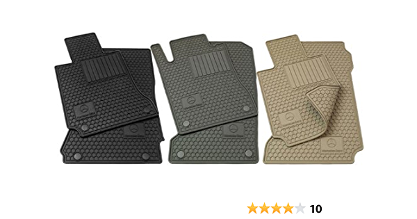 Coverking Custom Fit Front and Rear Floor Mats for Select Mercedes-Benz S-Class Models Nylon Carpet CFMBX1MD9272 Black