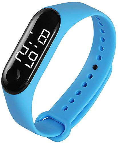 Kids Digital Watch Silicone Band Waterproof Wristwatches for Children Toddler Toy Touch LED Screen Watches for Boys Girls Little Child