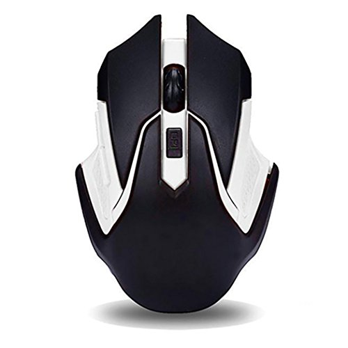 Momongel 2.4GHz Wireless 6 Keys Gaming Game Mouse Mice USB Receiver for Computer PC Laptop Scroll Wheel