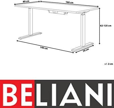 Beliani Escritorio eléctrico con Altura Ajustable 160 x 80 cm ...