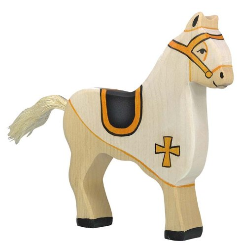 Holztiger Competition horse Toy Figure, White