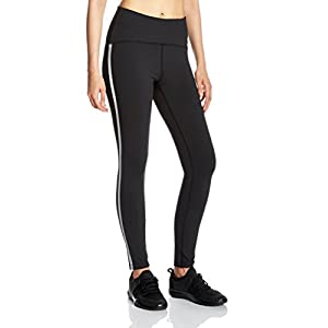 7Goals Women's Stripe High Rise Spandex Sports Legging
