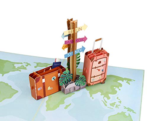 41%2BAbUkULqL MOKIO® Pop-Up Reisegutschein – 3D Gutscheinkarte zum Urlaub, Geburtstag oder Abschied – Geldgeschenk für Urlaubsgeld…