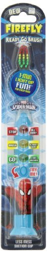 Firefly Spiderman Ready Go Brush with Suction Cup Blister Carded, 1.1 Ounce by Dr. Fresh