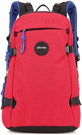 Jeff 40L Oxford Laptop Backpack Travel Camping Hiking School Casual Daypack 2212 Red