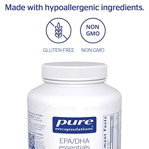 Pure Encapsulations - EPA/DHA Essentials - Ultra-Pure, Molecularly Distilled Fish Oil Concentrate - 180 Softgel Capsules by Pure Encapsulations (Image #3)