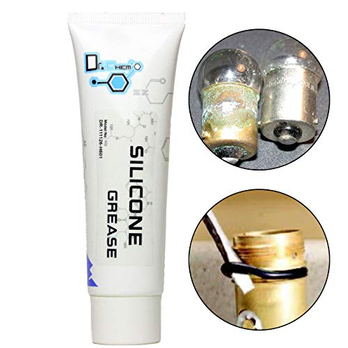 Jecr Silicone Grease, General Purpose Dielectric Paste, Waterproof Marine Grease, Ideal for Gaskets, Brake Pads, O Rings, and Electrical Connectors, 80G Tube, by Dr. Chem