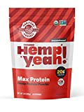 Manitoba Harvest Hemp Yeah! Organic Max Protein Protein Powder, Unsweetened, 32oz; with 20g protein and 4.5g Omegas 3&6 per Serving, Keto-Friendly, Preservative Free, Non-GMO