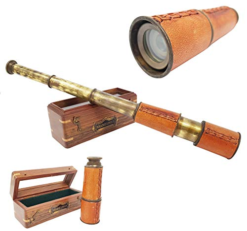 Brass Nautical - 14 inches Antique Telescope / Spyglass Replica in Box (Dollond London's)