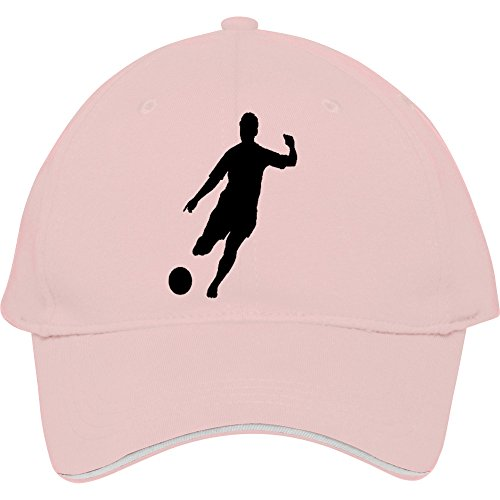 Soccer Player Pink Cotton Sport Head Wear Snapback Hat Cap (Caterpillar Classic Cap)