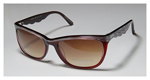 Koali 6969k WomensLadies Designer Full-rim SunglassesShades (57-19-135 Burgundy  Silver)