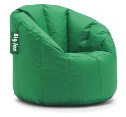 Big Joe Milano Bean Bag Chair Multiple Colors, Provides Ultimate Comfort, Great for Any Room (Elf Green) (Green Chair Saucer)
