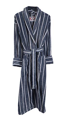 Mens Threadneedle 100% Egyptian Cotton Plush Shawl Collar Luxury Bathrobe - 2XL -