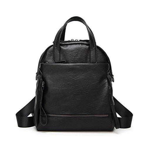 Fanshu - Bolso mochila para mujer, marrón (Marrón) - SB38 Negro