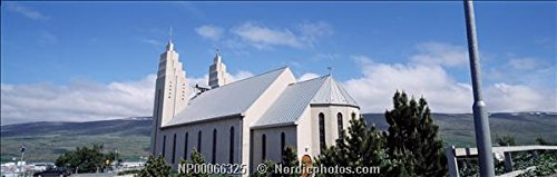 A church in Akureyri in north Iceland 30x40 photo reprint by PickYourImage
