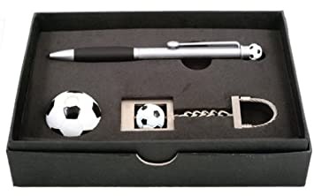 Amazon.com: SP-7006 Set Soccer Ball Pen and Key Holder Set ...