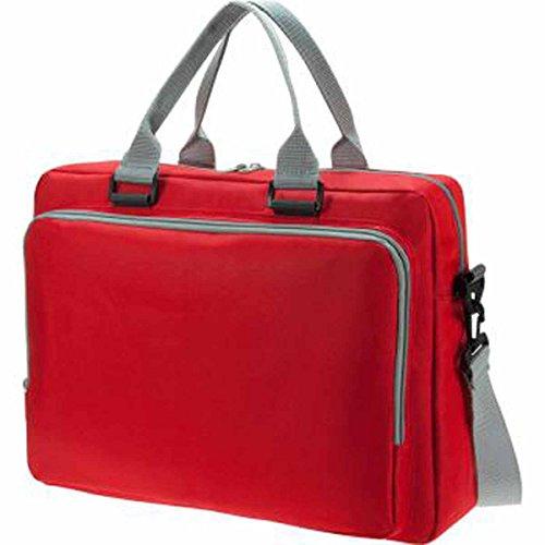 HALFAR 1802721-Bolsa portadocumentos solución 1808810 bandolera rojo