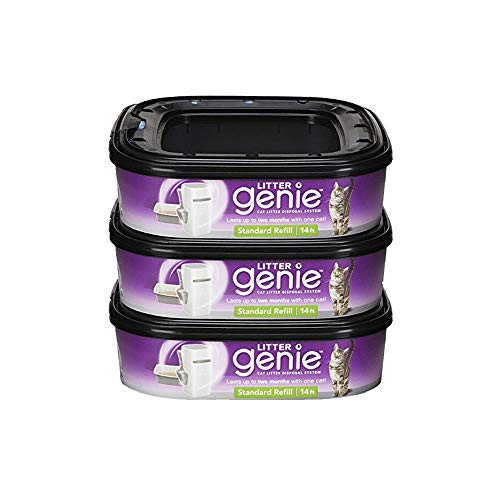 Litter Genie Ultimate Cat Litter Disposal System Refills, Lock Away odors, 3 Cartridges