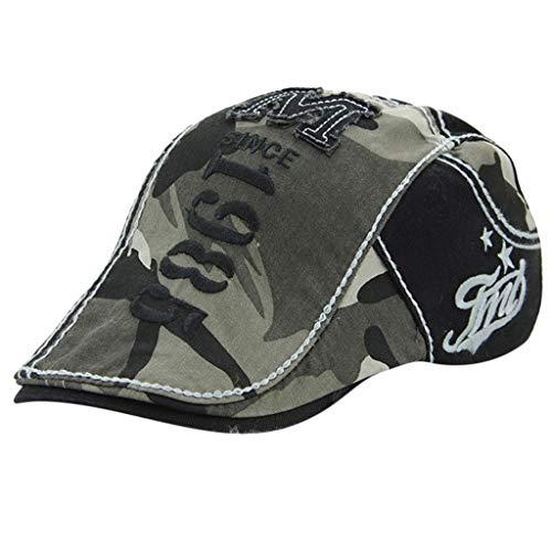 Baseball Cap Silk (WENSY Women Cotton Letter Camouflage Embroidered Flower Denim Cap Fashion Baseball Cap Topee Peaked Cap(Black,Free Size))