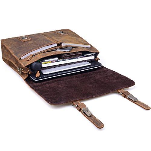 9af30a716c Jack Chris Men Leather Laptop Bag Briefcase Messenger Bag