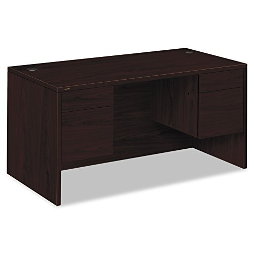 HON 10573NN 10500 Series 3/4-Height Double Pedestal Desk, 60w x 30d x 29-1/2h, Mahogany