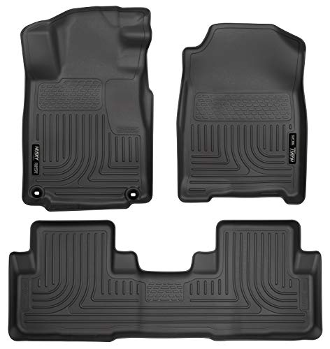 Husky Liners 98451 Fits 2012-14 Honda CR-V Weatherbeater Front & 2nd Seat Floor Mats, Black