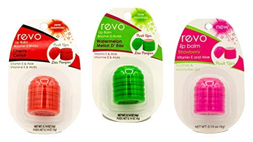 REVO Lip Balm | 3 Pack (Cherry, Strawberry & Watermelon)