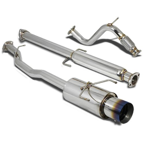 For Honda Accord Stainless Steel Catback Exhaust System 4.5 inches Muffler (Brunt Muffler Tip) CD