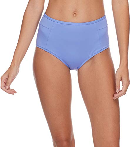 - Eidon Junior's Hailey High Rise Bikini Bottom Swimsuit, Flavors Periwinkle, Large